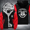 Hogwarts Printing Pattern Thicken Fleece Zipper Black Red Hoodies Jacket