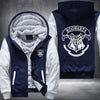 Hogwarts Printing Pattern Thicken Fleece Zipper Blue Hoodies Jacket