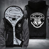 Hogwarts Printing Pattern Thicken Fleece Zipper Grey Hoodies Jacket