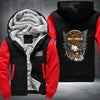 Motor Harley Davidson Style Printing Pattern Thicken Fleece Zipper Hoodies Jacket