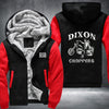 Walking Dead Dixon Choppers Printing Pattern Thicken Fleece Zipper Hoodies Jacket