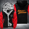 Harley-Davidson Printing Pattern Thicken Fleece Zipper Hoodies Jacket