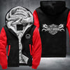 Harley-Davidson Motor cycles Printing Pattern Thicken Fleece Zipper Hoodies Jacket