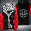 Harley Davidson Printing Pattern Fleece Zipper Hoodies Jacket