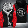 Harley Davidson Motor Co Printing Pattern Fleece Zipper Hoodies Jacket