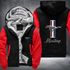 Mustang style Printing Pattern Thicken Fleece Zipper Hoodies Jacket
