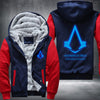 Nothing is true everything is permitted Printing Pattern Thicken Fleece Zipper Red Hoodies Jacket