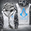 Nothing is true everything is permitted Printing Pattern Thicken Fleece Zipper White Camo Hoodies Jacket
