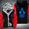 Assassin's Creed Unity Printing Pattern Thicken Fleece Zipper Black Red Hoodies Jacket