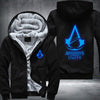 Assassin's Creed Unity Printing Pattern Thicken Fleece Zipper Black Hoodies Jacket
