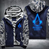 Assassin's Creed Unity Printing Pattern Thicken Fleece Zipper Blue Camo Hoodies Jacket