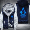 Assassin's Creed Unity Printing Pattern Thicken Fleece Zipper Blue Hoodies Jacket