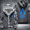 Assassin's Creed Unity Printing Pattern Thicken Fleece Zipper Grey Camo Hoodies Jacket