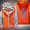 Assassin's Creed Unity Printing Pattern Thicken Fleece Zipper Orange Grey Hoodies Jacket