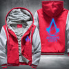 Assassin's Creed Unity Printing Pattern Thicken Fleece Zipper Red Grey Hoodies Jacket