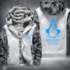 Assassin's Creed Unity Printing Pattern Thicken Fleece Zipper White Camo Hoodies Jacket