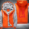 Lebron 23 Printing Pattern Thicken Fleece Zipper Orange Grey Hoodies Jacket