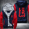 Lebron 23 Printing Pattern Thicken Fleece Zipper Red Hoodies Jacket