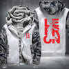 Lebron 23 Printing Pattern Thicken Fleece Zipper White Camo Hoodies Jacket