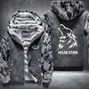 House Stark Printing Pattern Thicken Fleece Zipper Grey Camo Hoodies Jacket