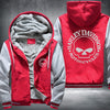 Harley Davidson Motorcycle Printing Pattern Thicken Fleece Zipper Red Grey Hoodies Jacket