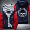 Harley Davidson Motorcycle Printing Pattern Thicken Fleece Zipper Red Hoodies Jacket