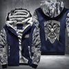 Harley Davidson Printing Pattern Thicken Fleece Zipper Blue Camo Hoodies Jacket