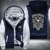 Harley Davidson Printing Pattern Thicken Fleece Zipper Blue Hoodies Jacket