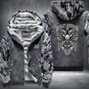 Harley Davidson Printing Pattern Thicken Fleece Zipper Grey Camo Hoodies Jacket