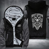 Harley Davidson Printing Pattern Thicken Fleece Zipper Grey Hoodies Jacket