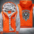 Harley Davidson Printing Pattern Thicken Fleece Zipper Orange Grey Hoodies Jacket