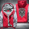 Harley Davidson Printing Pattern Thicken Fleece Zipper Red Grey Hoodies Jacket