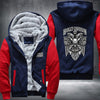 Harley Davidson Printing Pattern Thicken Fleece Zipper Red Hoodies Jacket