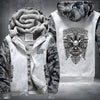 Harley Davidson Printing Pattern Thicken Fleece Zipper White Camo Hoodies Jacket