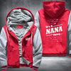 It's A NANA Thing Printing Pattern Thicken Fleece Zipper Red Grey Hoodies Jacket
