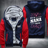 It's A NANA Thing Printing Pattern Thicken Fleece Zipper Red Hoodies Jacket