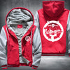 Vespa Club Roeselare Printing Pattern Thicken Fleece Zipper Red Grey Hoodies Jacket