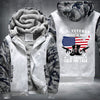 U.S. Veteran I walked the walk Printing Pattern Thicken Fleece Zipper White Camo Hoodies Jacket
