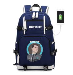 Detroit become human USB Charge Backpack