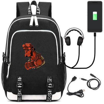 Hellboy Rise of the Blood printing Backpacks USB Charging