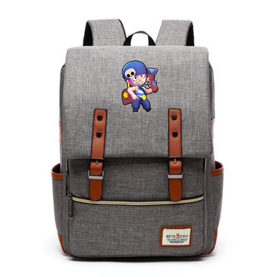 Spike Poco preppy style Children's Brawl Stars Canvas Backpack
