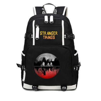 Anime Stranger Things USB Charging Laptop Backpack