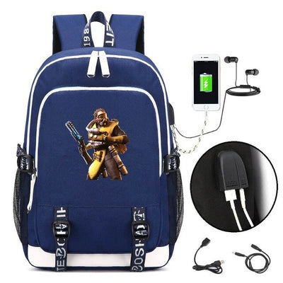 Game Apex Legends USB Laptop Shoulder Travel Backpack