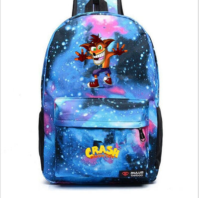Children's Crash Bandicoot canvas backpack