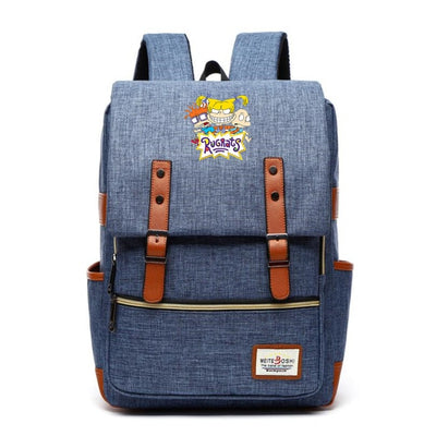 Children's Rugrats in Paris Canvas Backpack