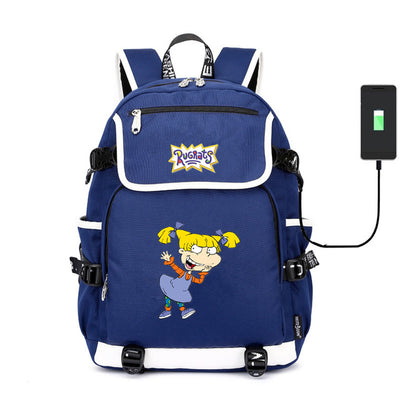 Rugrats in Paris USB charging canvas Backpack