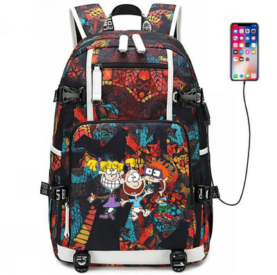 Rugrats in Paris usb charging Laptop Backpack
