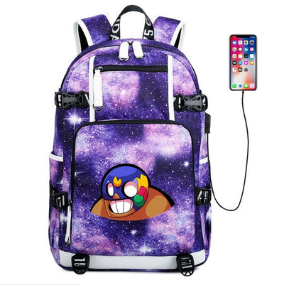 Brawl Stars canvas usb charging School Backpack