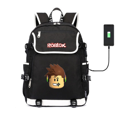 Roblox dabbing noob canvas usb charging Backpack