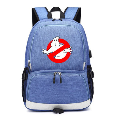 Ghostbusters usb charging canvas shoulder Backpack